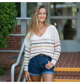 Tops 66 Back To Cool Fall Stripe Sweater