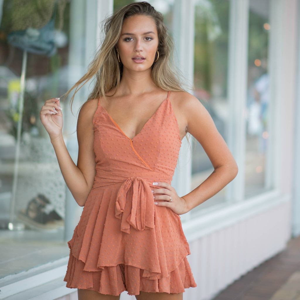 Rompers 48 Swiss Dot Fall Party Romper