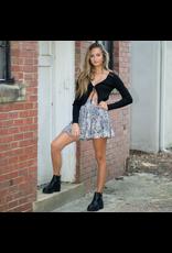 Skirts 62 Tiers To You Snake Print Grey Skirt