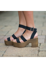 Shoes 54 Right Direction Black Wooden Platforms