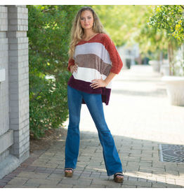Tops 66 Hello Fall Colorblocked Sweater
