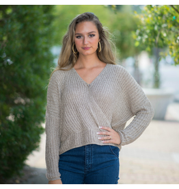 Tops 66 Mocha Wrapped Sweater