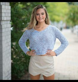 Tops 66 Confetti Blue Fleck Sweater