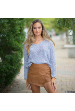Shorts 58 Hello Fall Camel Leather Skort