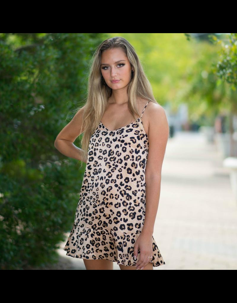 Dresses 22 City Kitty Leopard Ruffle Dress