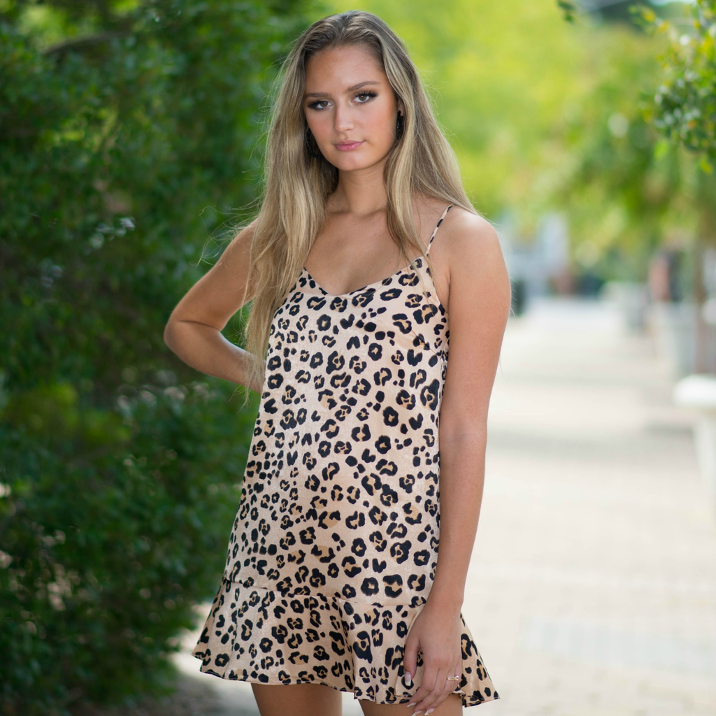 Dresses 22 City Kitty Leopard Ruffle Dress