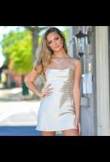 Dresses 22 Satin Open Back Champagne Dress