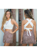 Tops 66 Get Going White Tie Back Crop Top