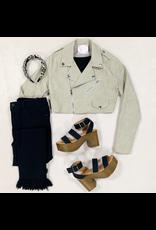 Outerwear Snake Texture Zipper Jacket