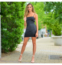 Dresses 22 Satin Dream Open Back LBD