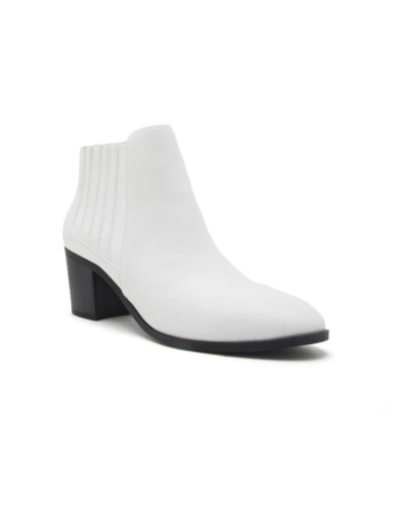 Shoes 54 Move Along White Booties