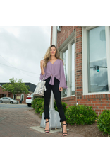 Tops 66 Tied Up Into Fall Dusty Purple Top