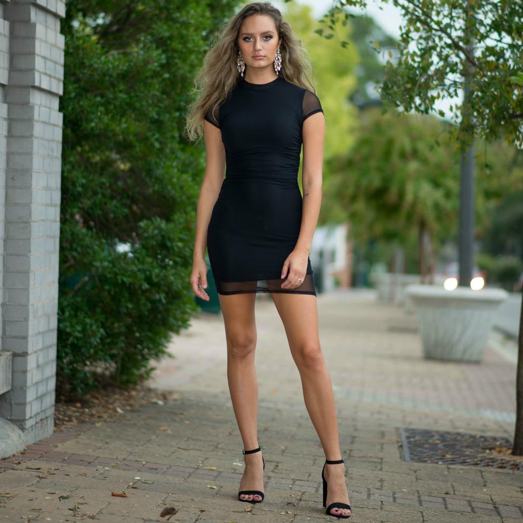 Dresses 22 Sheer Delight LBD