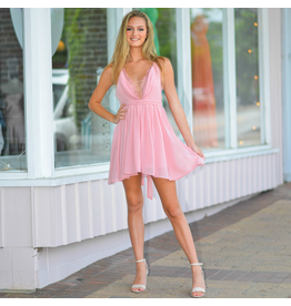 Dresses 22 Chiffon Eyelash Blush Lace Dress