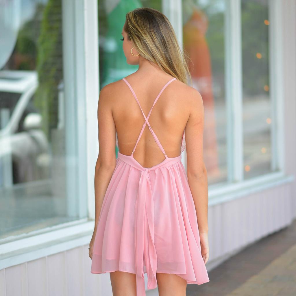 Dresses 22 Chiffon Eyelash Blush Lace Dress