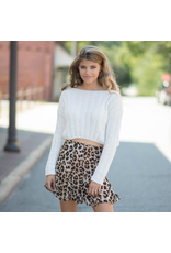 Tops 66 Chenille Ivory Crop Sweater