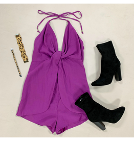 Rompers 48 Get Twisted Purple Romper