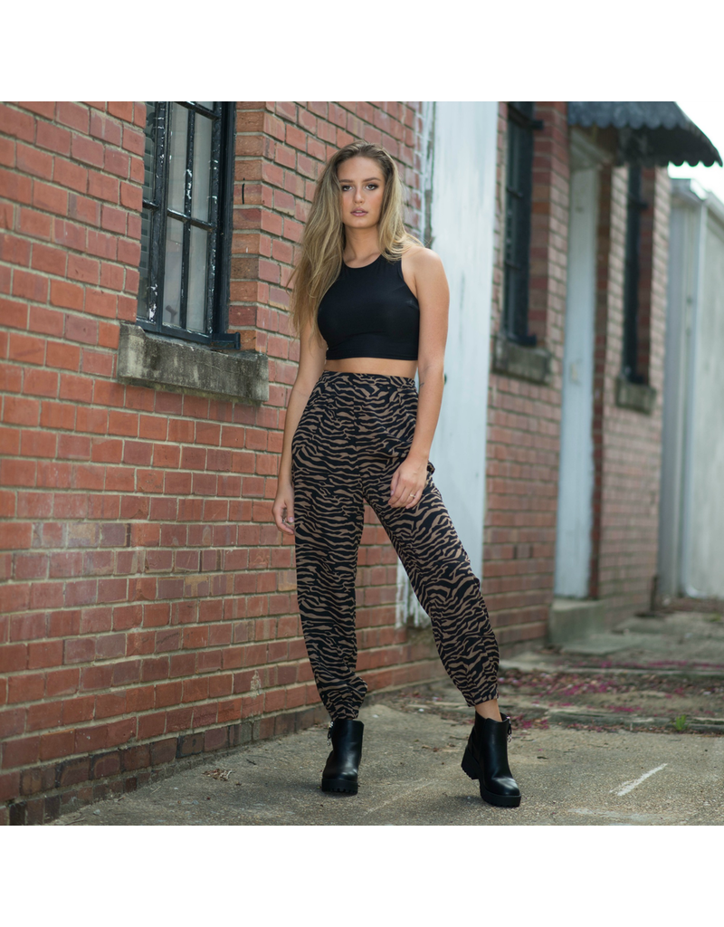 Pants 46 Call Of The Wild Zebra Joggers