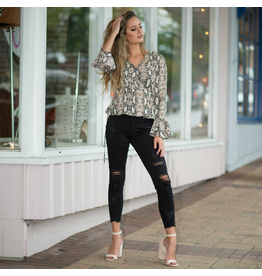 Tops 66 Wild One Snake Wrap Top