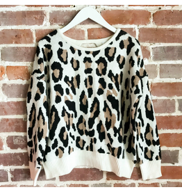 Tops 66 Leopard Open Back Sweater