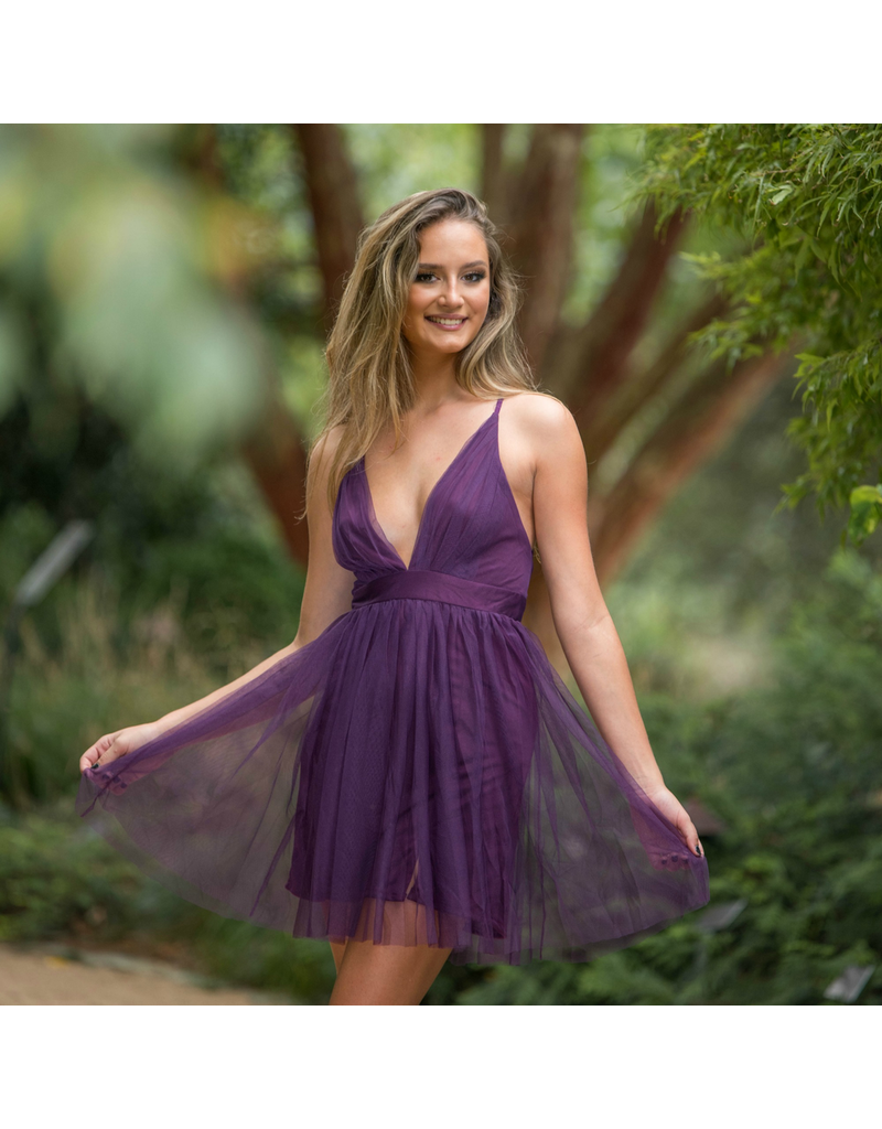 Dresses 22 Tulle Occassion Plum Short Formal Dress
