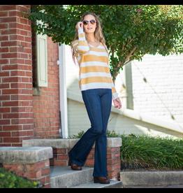 Tops 66 Be Happy Cozy Stripe Sweater