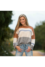 Tops 66 Hello Fall Stripe Sweater