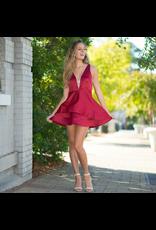 Dresses 22 Satin Dream Burgundy Dress