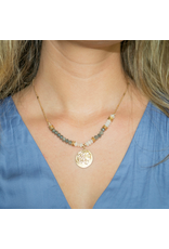 Jewelry 34 Coin and Beads Necklace
