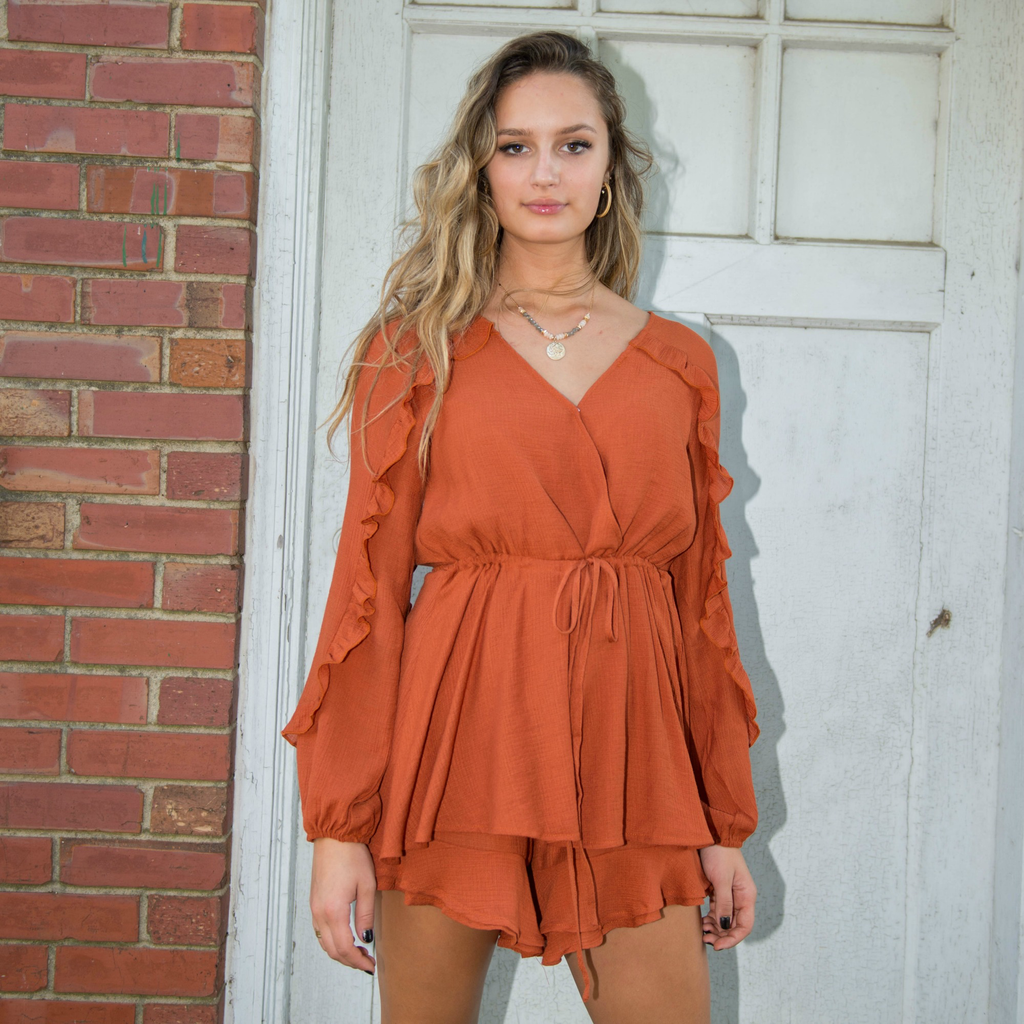 Rompers 48 Autumn Is Calling Ruffle Romper