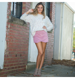 Shorts 58 Suede Blush Skort