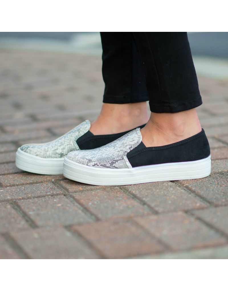 Shoes 54 Snake and Suede Sneakers