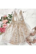 Formalwear Tulle Occasion White/Nude Formal Dress
