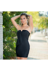 Default Simple Elegance Strapless Black Dress