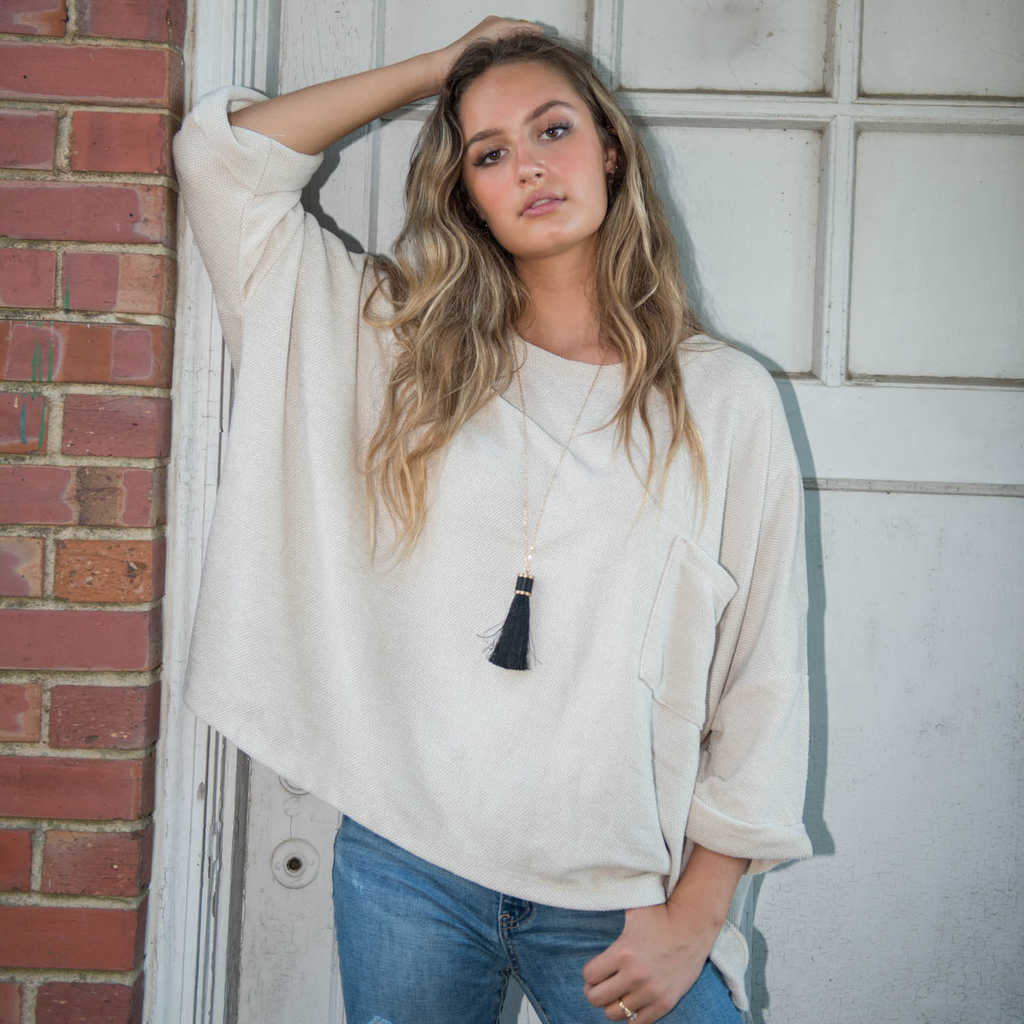 Tops 66 Comfy Ivory Chenille Top