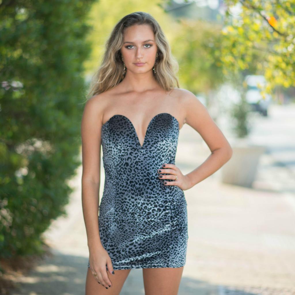 Dresses 22 Wild and Free Grey Leopard Dress