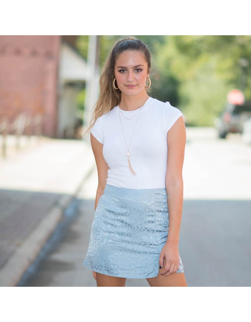 Skirts 62 Leopard Love Light Blue Skirt