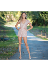 Rompers 48 Dazzle Me Rose Gold Sequin Romper