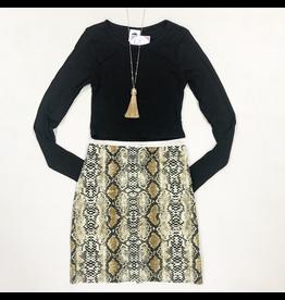 Skirts 62 Wild One Snake Print Skirt