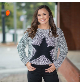 Tops 66 Superstar Black and White Sweater