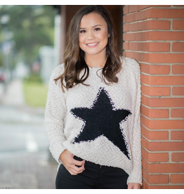 Tops 66 Shooting Star Ivory Sweater