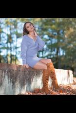 Dresses 22 Fall Romance Sweater Dusty Blue Dress