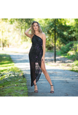 Dresses 22 Dazzle Dream Black Sequin One Shoulder Dress