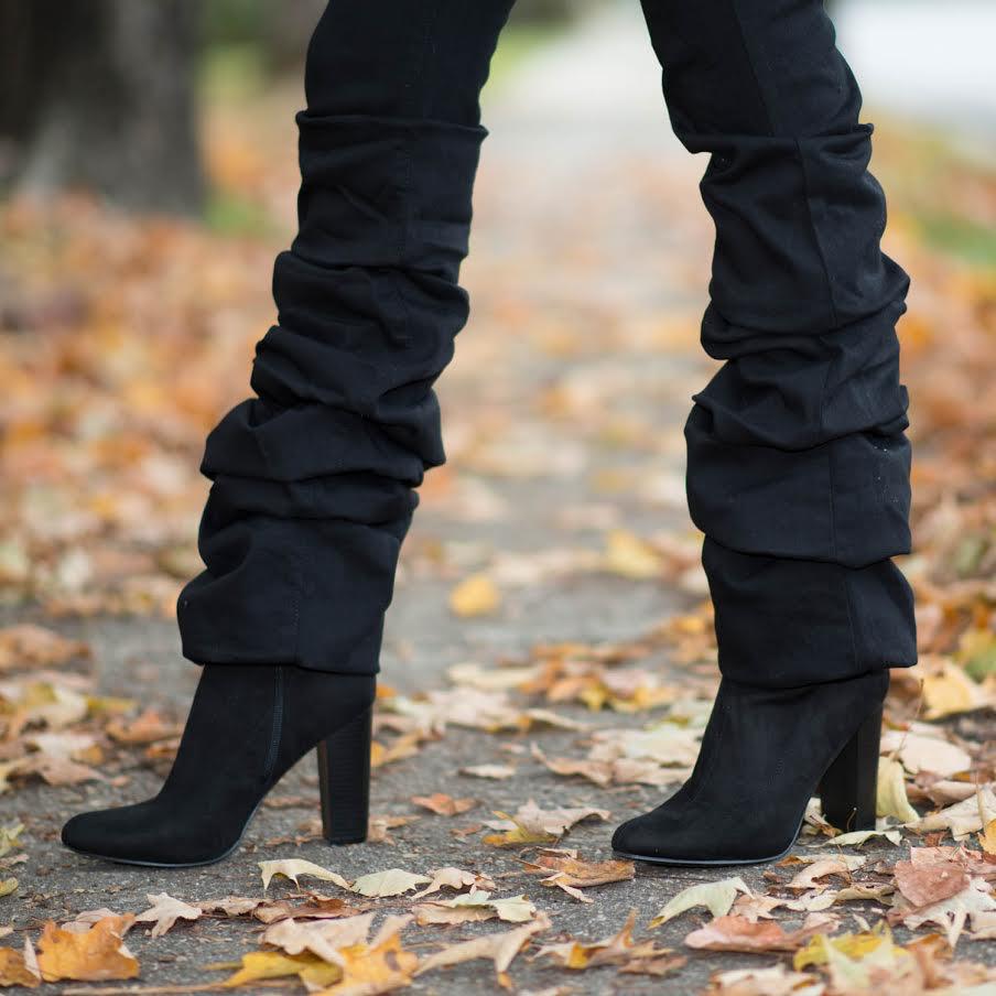 Pants 46 Black Scrunch Flare