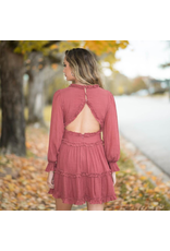 Dresses 22 Berry Cute Ruffle Open Back Ruffle Dress