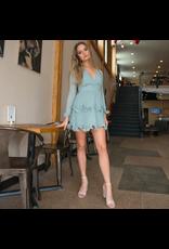 Dresses 22 Season In Sage Ruffle Dress