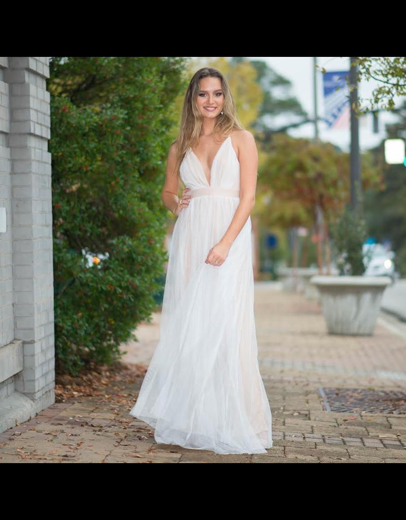 Dresses 22 Swept Away White/Nude Tulle Formal Dress
