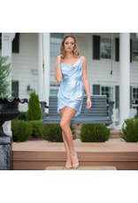 Dresses 22 Satin Dream Ice Blue Dress