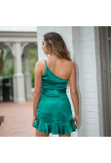 Dresses 22 One Shoulder Satin Dream Jade Dress