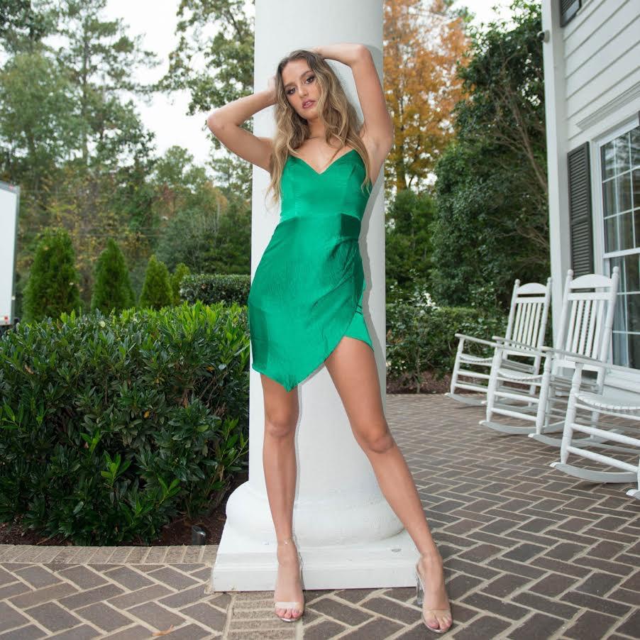 Dresses 22 Satin Dream Green Dress
